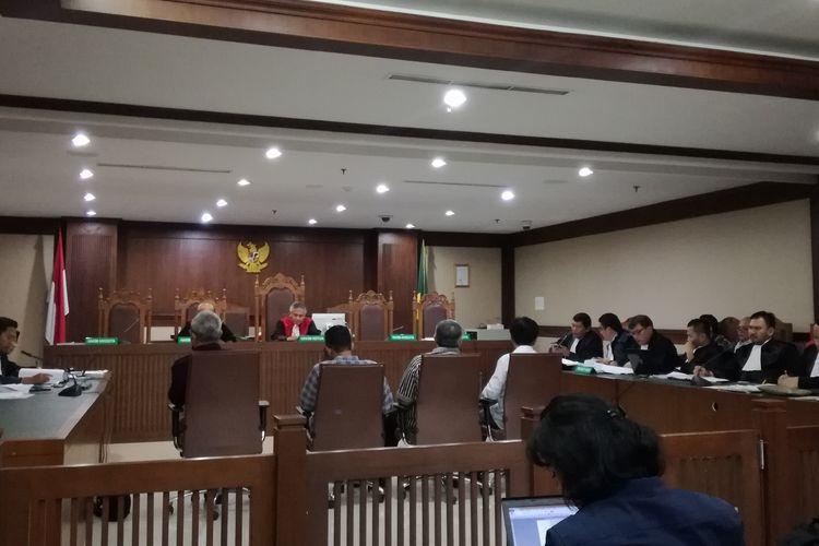 Sidang lanjutan kasus dugaan suap terhadap anggota DPRD Sumatera Utara di Pengadilan Tindak Pidana Korupsi Jakarta, Senin (17/6/2019) sore.