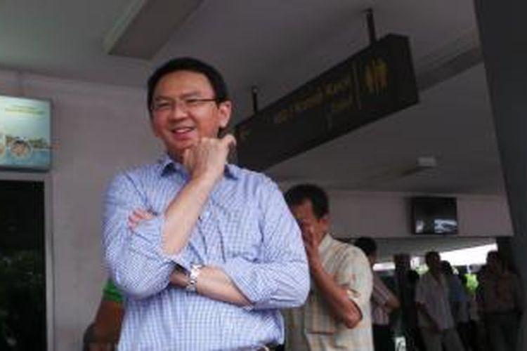 Wakil Gubernur DKI Jakarta Basuki Tjahaja Purnama saat di kampung halamannya, di Bangka Belitung, Sabtu (14/9/2013).