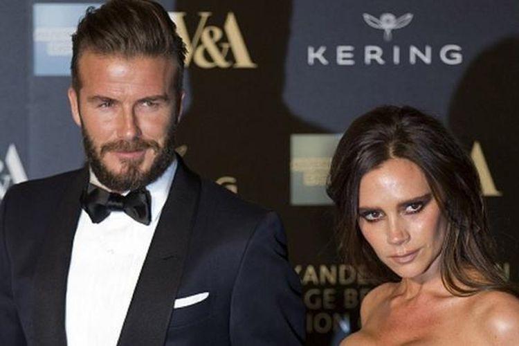 Pasangan selebritas, David Beckham dan Victoria Adams.