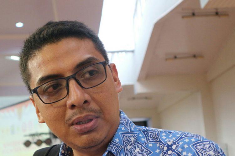 Direktur Pusat Kajian Antikorupsi (Pukat) UGM Zainal Arifin Mochtar ketika ditemui dalam acara Konferensi Nasional Hukum Tata Negara (HNKTN) 2017, di Aula Pemerintah Jember, Jawa Timur, Sabtu (11/11/2017).