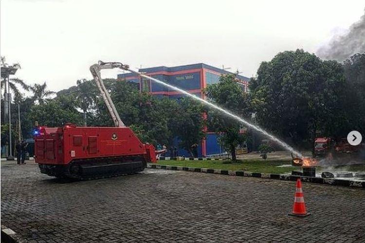 Robot pemadam kebakaran yang kini dimiliki Dinas Pemadan Kebakaran dan Penanggulangan Bencana DKI Jakarta.