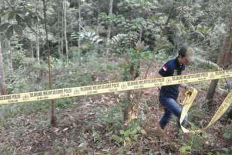 Lokasi kasus pemerkosaan dan pembunuhan siswi SMP di Rejang Lebong, Bengkulu.