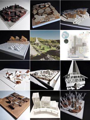 Ilustrasi sebagian maket dari karya 11 arsitek di Pameran In Between Boundaries 2018 di Venesia. Foto: BPA Studio