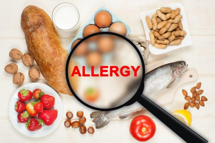 Ilustrasi alergi makanan