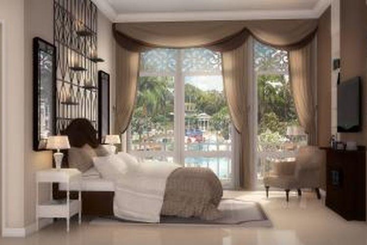Prototipe kamar tidur rumah klaster Whitsand, BSD City.