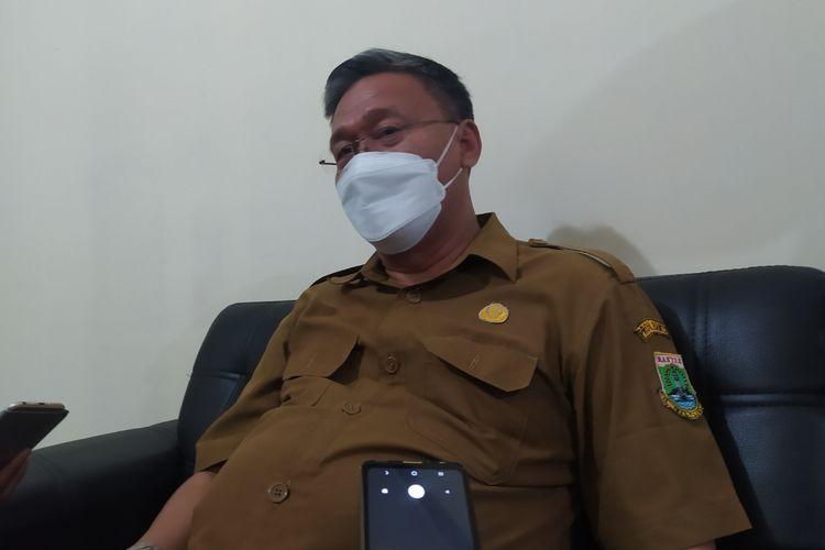 Kepala Sekolah SMKN 5 Tangerang, Kota Tangerang, Nurhali, saat diwawancarai pada Senin (13/9/2021).