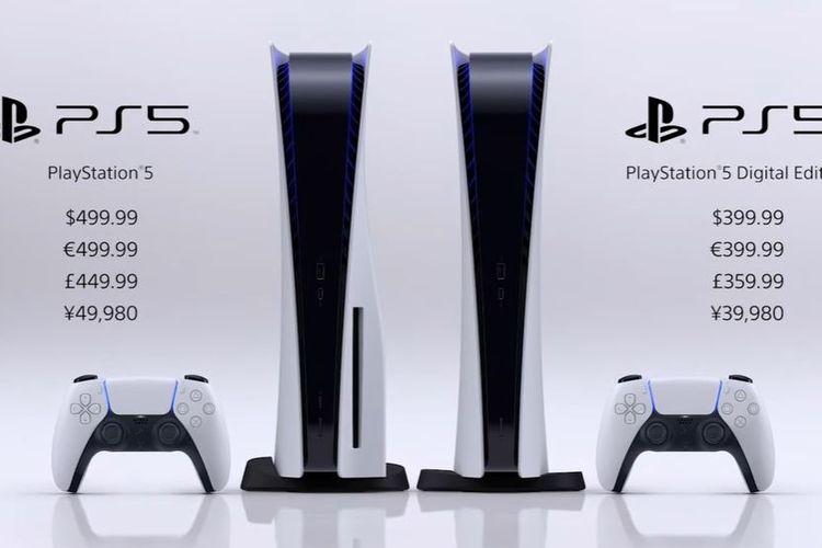 Informasi harga resmi PS5.