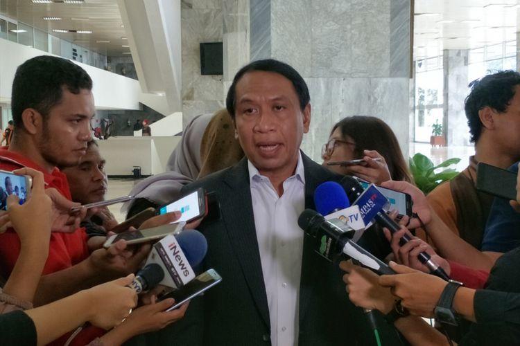 Ketua Komisi II Zainudin Amali saat ditemui di Kompleks Parlemen, Senayan, Jakarta, Kamis (11/1/2018).