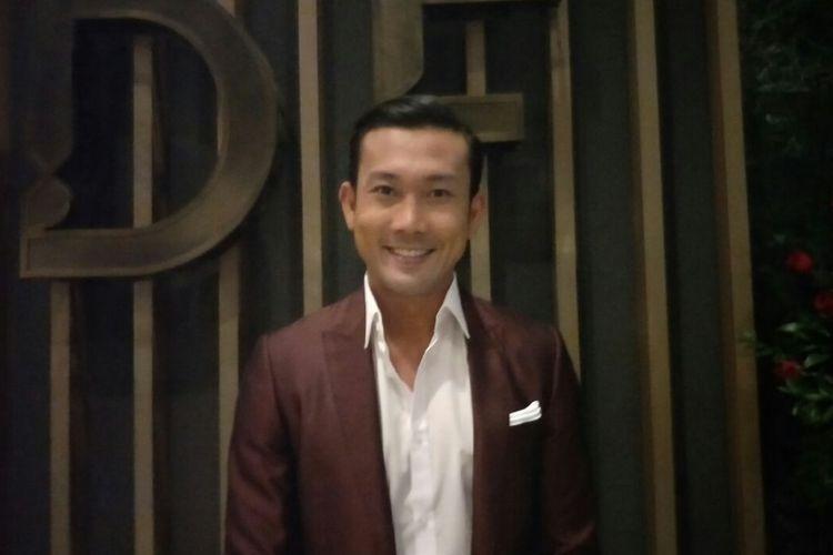 Denny Sumargo saat ditemui dalam peluncuran aplikasi Hypstar di kawasan Gatot Subroto, Jakarta Selatan, Senin (12/3/2018),