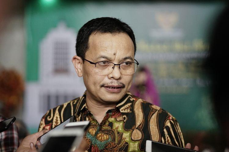Sekjen Mahkamah Konstitusi (MK) Guntur Hamzah saat ditemui di gedung MK, Jakarta Pusat, Senin (10/6/2019).