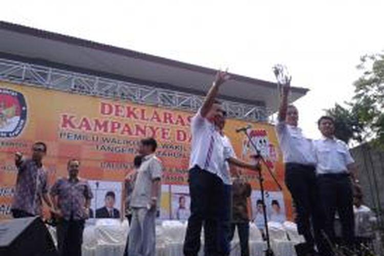 Dua calon wali kota Tangerang, Tu Bagus Dedi
