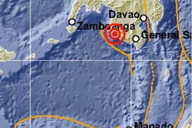 Gempa bumi bermagnitudo 5,5 mengguncang Kepulauan Sangihe, Sulawesi Utara, Kamis (6/6/2019) sekitar pukul 03.41 WIB.