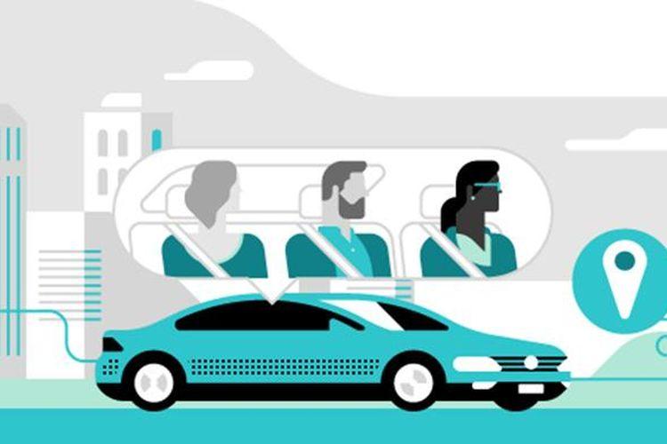 Ilustrasi UberPool