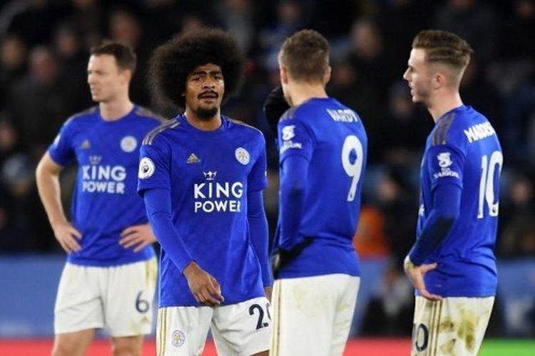 Gelandang Leicester City, Hamza Choudhury, saat menghadapi Southampton di King Power Stadium,  11 Januari 2020.
