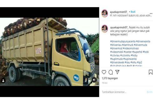 Viral Video Perempuan Jadi Sopir Truk Pengangkut Sawit, Ini Cerita di Baliknya...