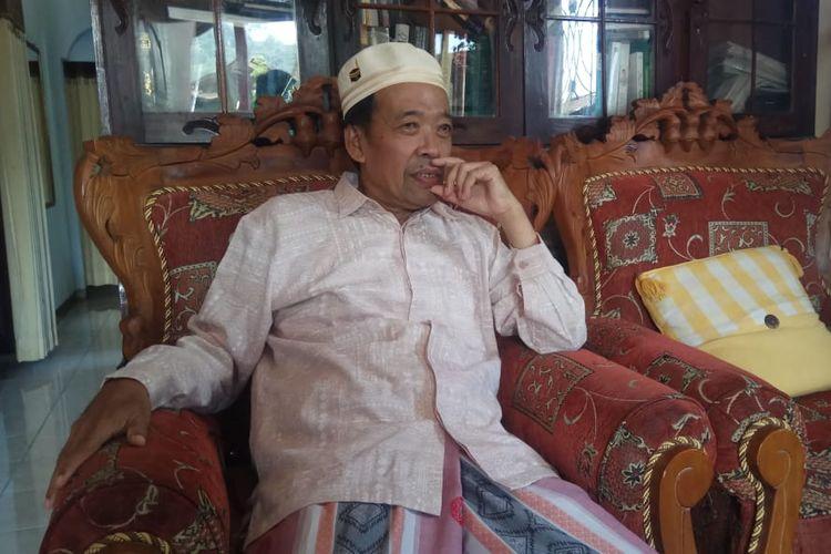 Ketua Forum FKUB Kebumen Dawamudin di rumahnya Kebumen, Jawa Tengah, Selasa (14/5/2019).