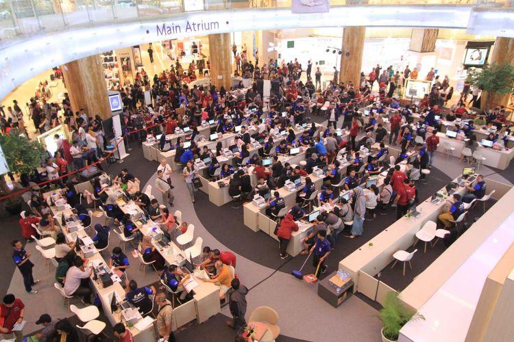 Suasana penjualan klaster Canggu, Citra Maja Raya di Lotte Shopping Avenue, Jakarta, Minggu (8/9/2019)