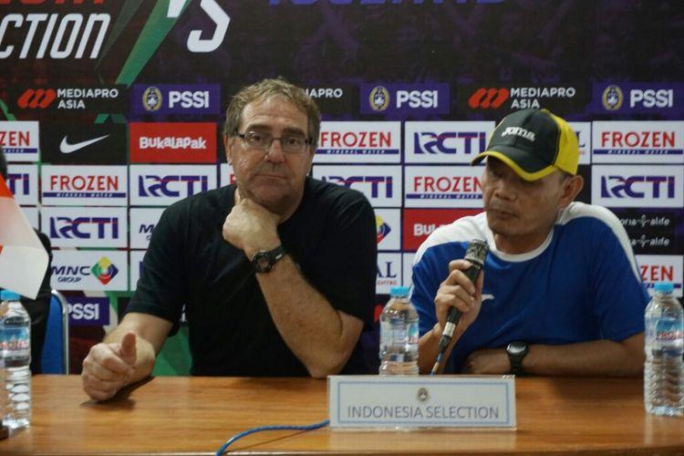 Pelatih tim Indonesia Selection, Robert Rene Alberts.