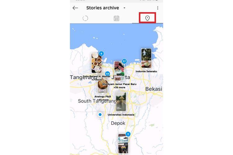 Cara melihat riwayat Instagram Stories di peta