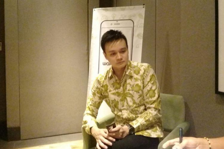 Anthony Gunawan, CEO Wakuliner saat berbincang dengan sejumlah media sebelum memperkenalkan secara resmi e-commerce Wakuliner di Jakarta, Rabu (9/8/2017).