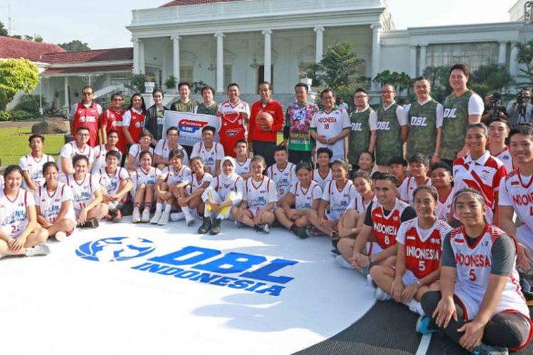 Peresmian Developmental Basketball League (DBL) di Istana Bogor, Jawa Barat pada beberapa waktu lalu.