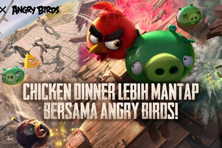 PUBG Mobile kolaborasi dengan Angry Birds.