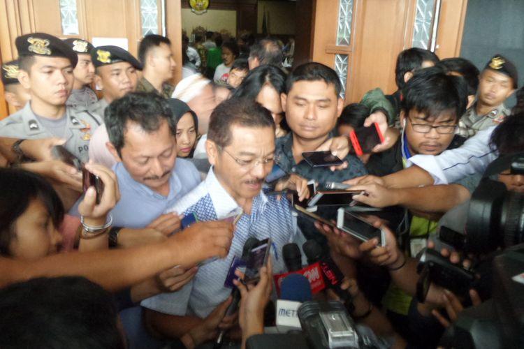 Mantan Menteri Dalam Negeri, Gamawan Fauzi, di Pengadilan Tipikor Jakarta, Senin (29/1/2018).