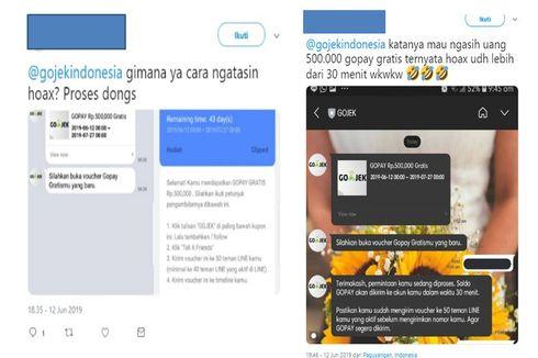 Viral Kupon Hoaks Go-pay Rp 500.000, Ini Penjelasan Go-jek