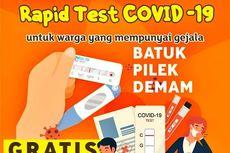 Warga yang Batuk, Pilek, dan Demam Bisa Ikut Rapid Test Gratis