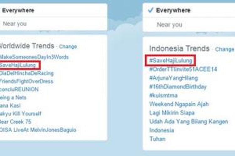 Tagar #SaveHajiLulung jadi topik paling banyak dibicarakan di dunia dan di Indonesia