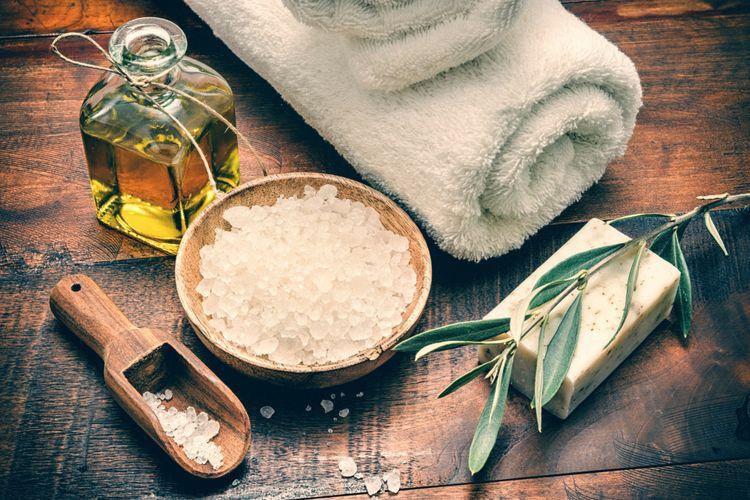 Ilustrasi garam untuk kecantikan