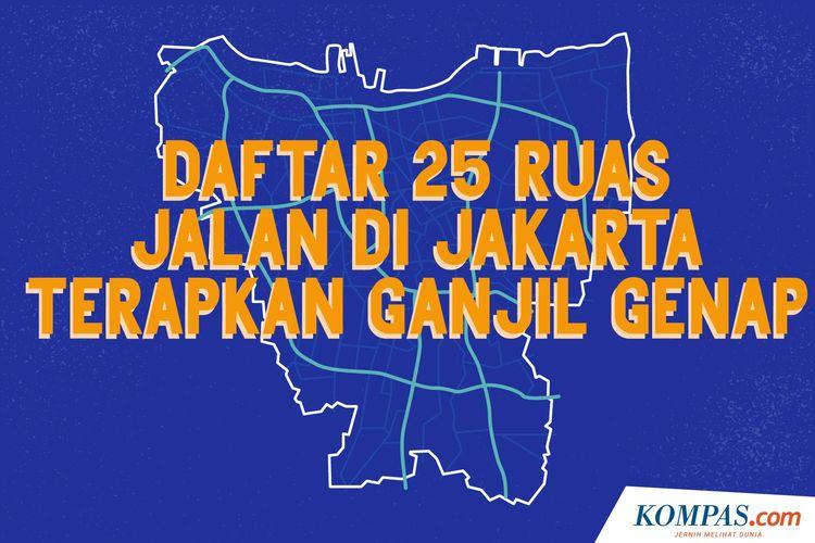 Daftar 25 Ruas Jalan di Jakarta Terapkan Ganjil Genap