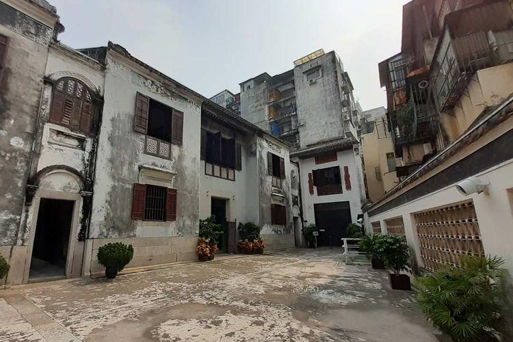 Rumah Mandarin, salah satu bagian dari Pusat Sejarah Makau. Bangunan-bangunan China ini masih terawat sangat baik meskipun berusia tua.