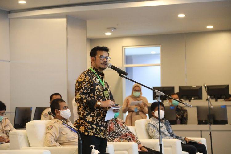 Menteri Pertanian, Syahrul Yasin Limpo membuka Gerakan Percepatan Tanam, Selasa (12/05/2020).