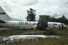 Pesawat Kargo Tri MG Asia Airlines Tergelincir di Wamena
