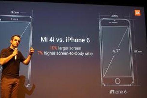 Xiaomi Bandingkan Mi 4i dengan iPhone 6