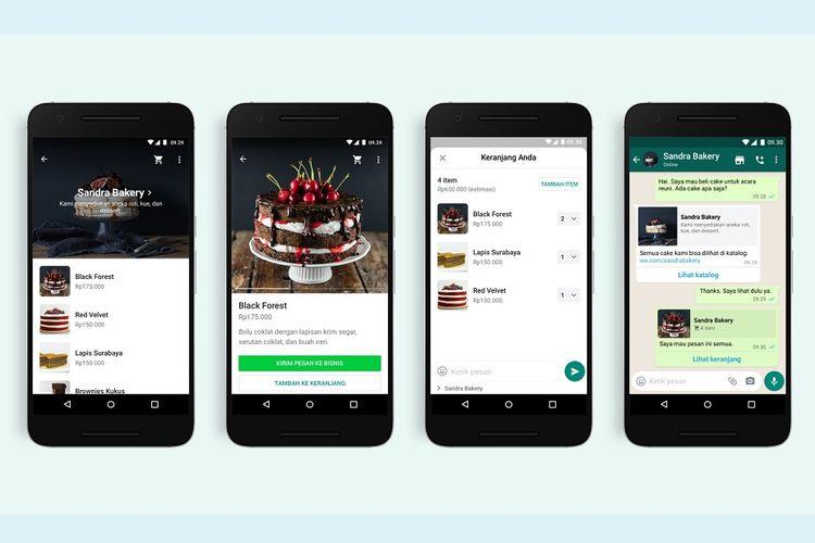 Fitur keranjang belanja di WhatsApp Business