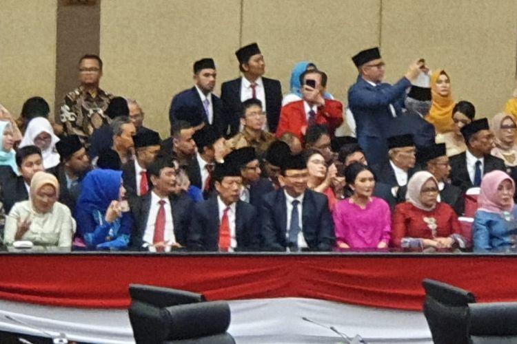 3 Mantan Gubernur DKI Jakarta, Sutiyoso, Basuki Tjahaja Purnama, dan Djarot Saiful Hidayat duduk bareng saat hadiri pelantikan Anggota DPRD DKI Jakarta, Senin (26/8/2019)