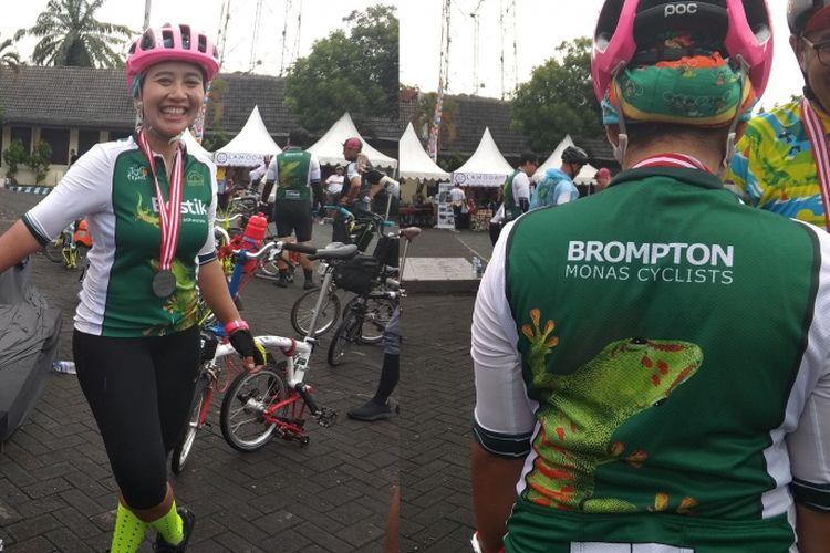 Diah Kusomo Dewi, salah satu peserta Bromton 100 Kilo