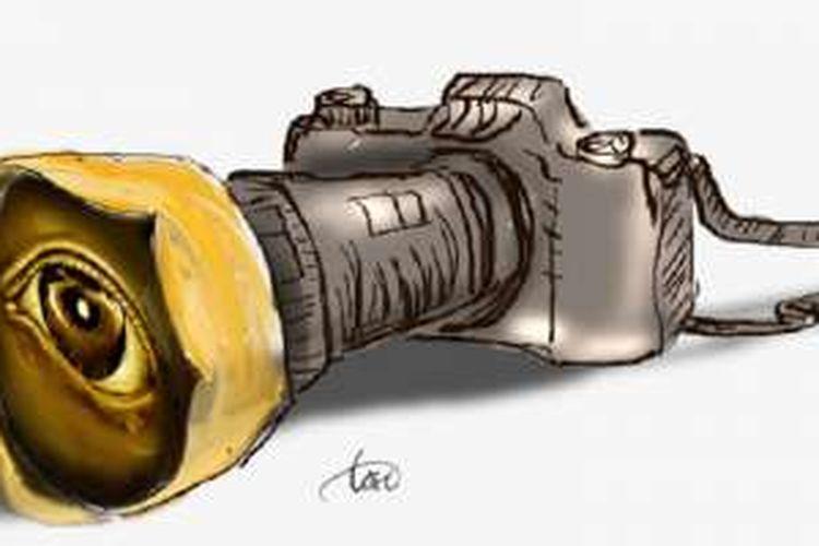 Ilustrasi Pers, Media, Fotografi, dan Kebebasan Pers