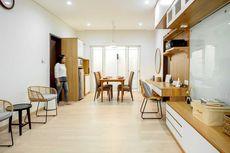 Cantiknya Interior Putih-Coklat dengan Furnitur Serbaguna