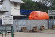 Belum Dibayar, Lahan Outlet Sodetan Ciliwung-KBT Dipasang Plang