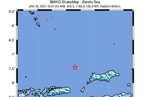 Gempa Hari Ini: M 5,3 Guncang Laut Banda Dipicu Aktivitas Subduksi