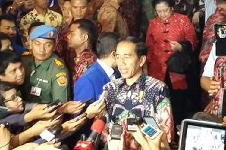Presiden Joko Widodo seusai menghadiri Rakernas I PAN di Balai Sudirman, Jakarta, Rabu (6/5/2015).