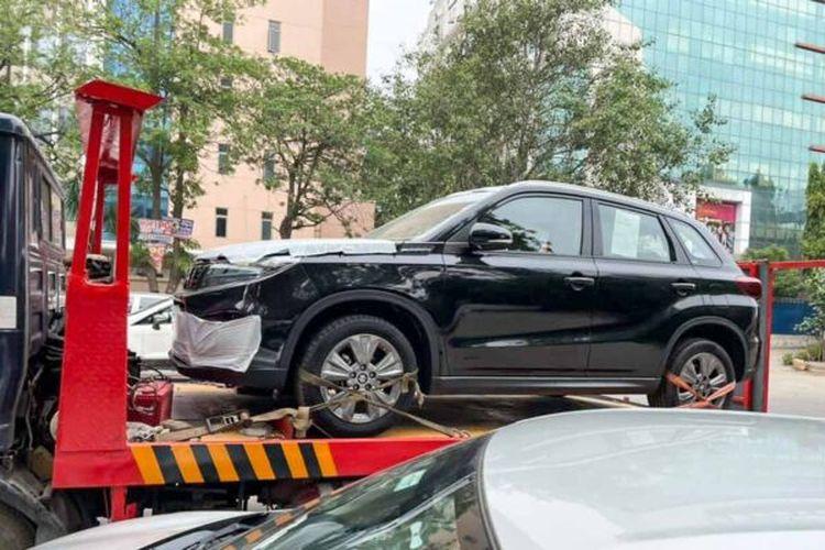 Bocoran Suzuki Vitara sedang ditowing di India.