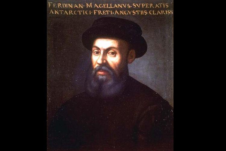 Sebuah lukisan wajah Ferdinand Magellan yang dibuat pada abad ke-16. Tak diketahui pembuat lukisan ini.