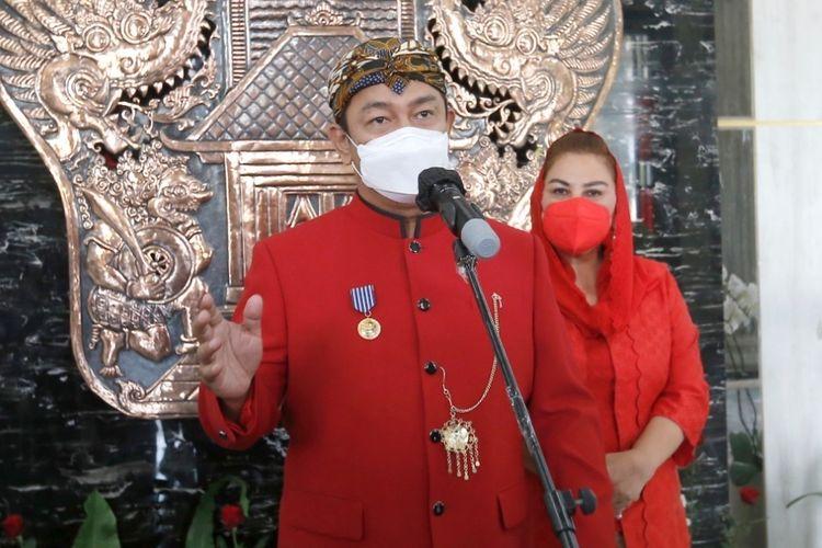 Wali Kota Semarang Hendrar Prihadi dan Wakil Wali Kota Semarang Hevearita G. Rahayu di Balai Kota Semarang, Selasa (17/8/2021).