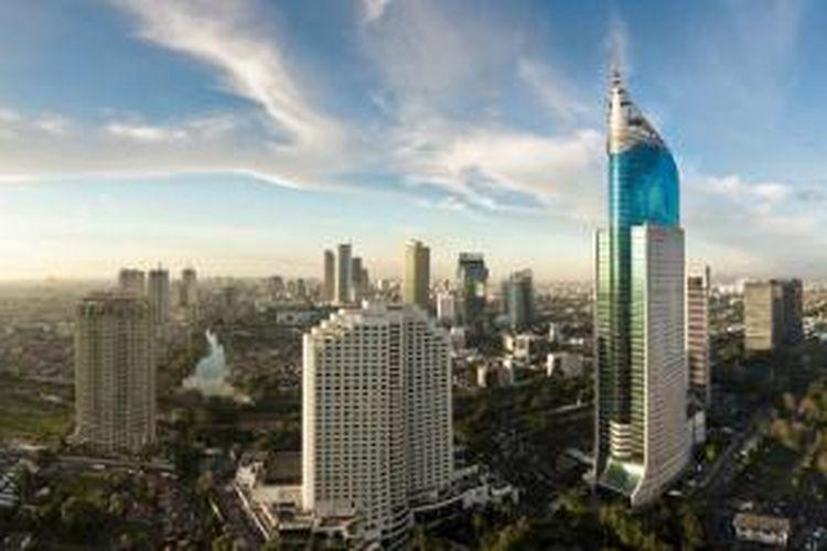 Gedung-gedung pencakar langit di Jakarta.