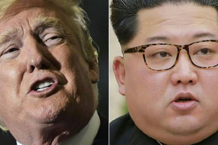 Presiden Amerika Serikat Donald Trump (kiri) dan Pemimpin Korea Utara Kim Jong Un.