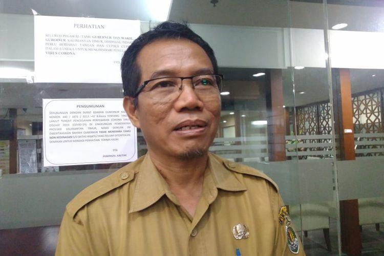 Plt Kepala Dinas Kesehatan Kaltim, Andi Muhammad Ishak saat ditemui Kompas.com di Kantor Gubernur Kaltim, Samarinda, Selasa (24/3/2020).